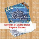 denim and diamond paper gamedenim and diamond paper game