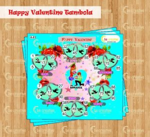 Happy Valentine Tambola valentine's day kitty party games