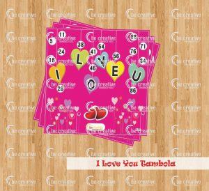 I Love You Tambola valentine's day kitty party games