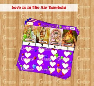 Love is in the Air Tambola valentine's day kitty party game