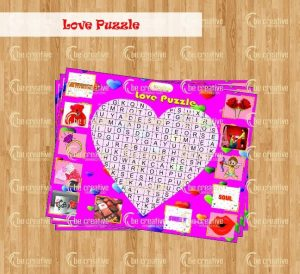love puzzle valentine's day kitty party games