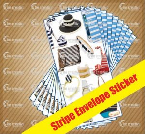 stripe envelope sticker