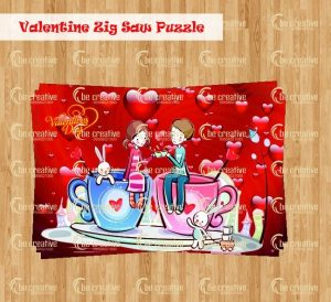 valentine jigsaw puzzle  valentine's day kitty party games