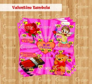 Valentine Tambola valentine's day kitty party games