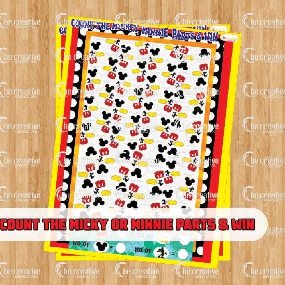 Count the Mickey Or Minnie Parts & Win
