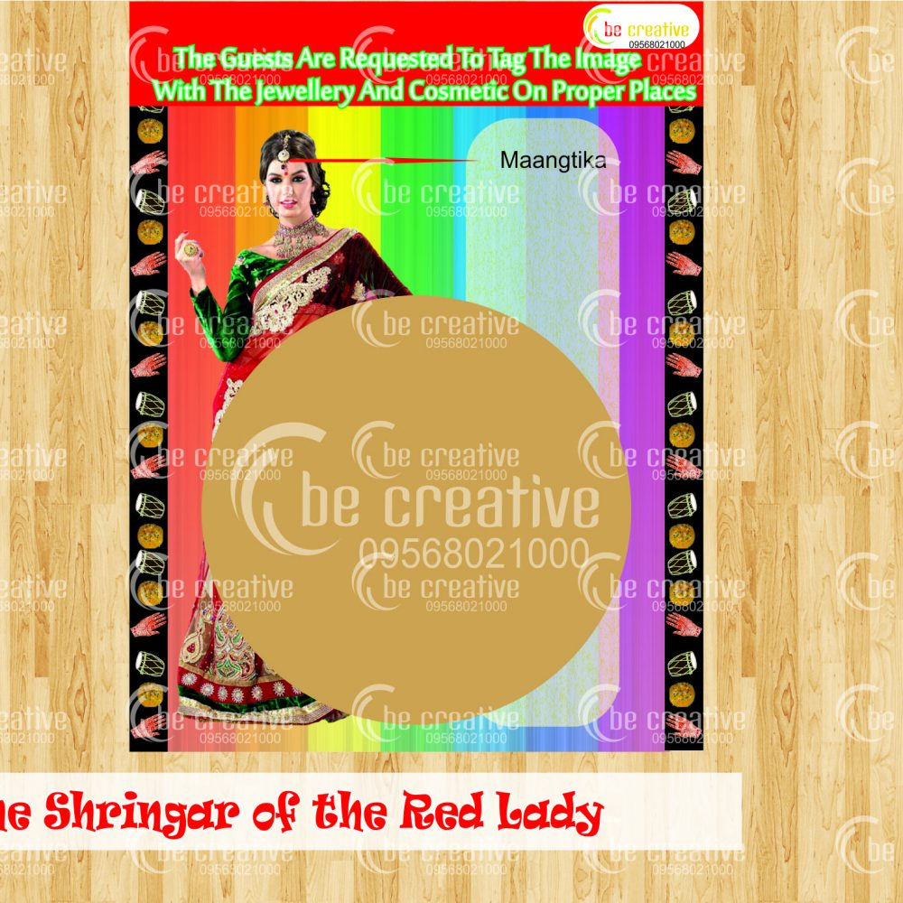 Tag the Shringar of the Red lady game karwa chauth kitty party games