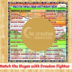 Match the Slogans with Freedom Fighter game