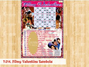 filmy valentine tambola valentine's day kitty party games