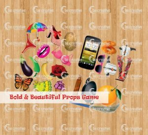 Bold and beautiful prop activity game